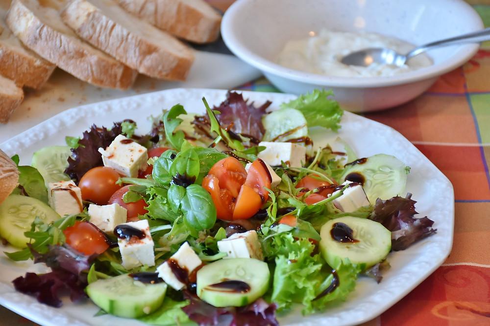Détox, assiette, design, vaisselle, salade, sain, santé, légumes, tomates, roquette, cleanse