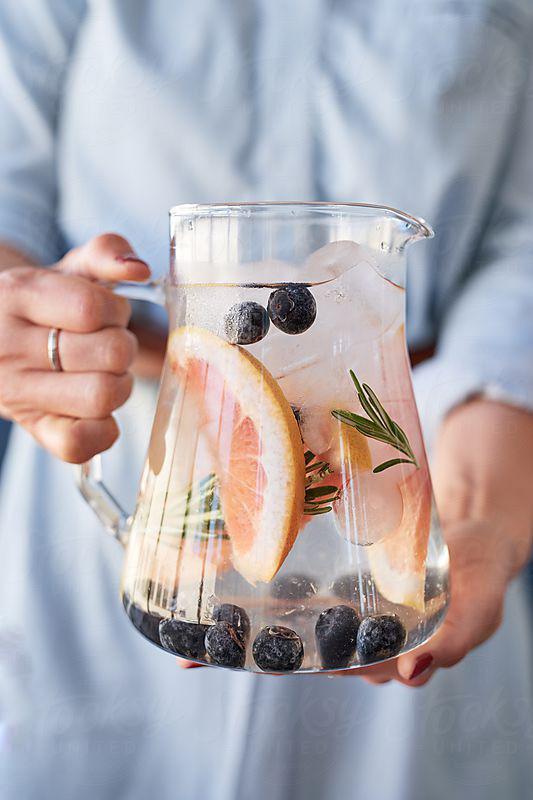 eau, water, infused water, eau infusée, summer, été, detox, healthy