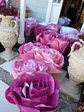 Paper roses in pink tones