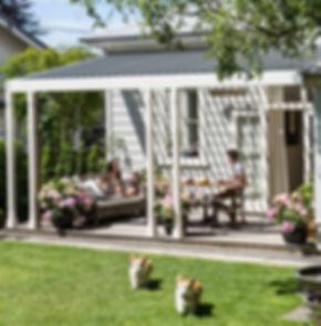 Outdoor living, dog friendly garden, hydrangeas