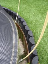 Sunken trampoline construction detail