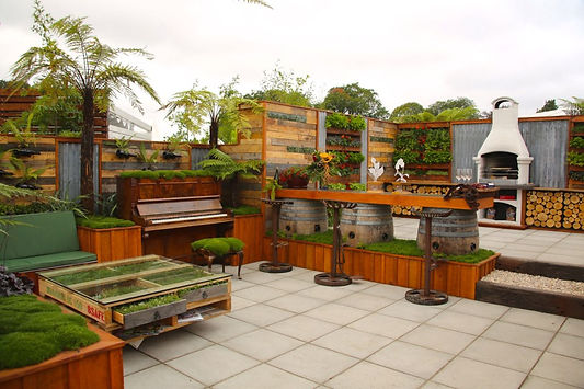 Recycled materials - hot trend at Ellerlsie