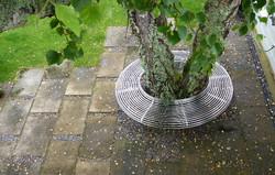 Custom steel tree seat on Beauchamp