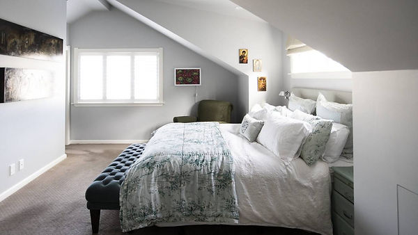 Beautiful light master bedroom