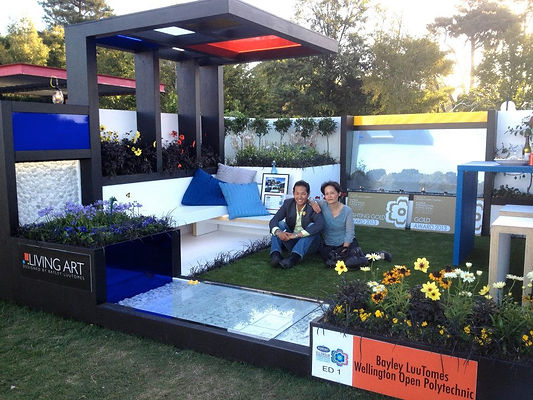 Bayley LuuTomes in his winning Mondrian inspired garden