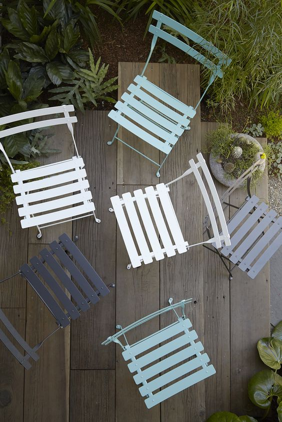 Coloured outdoor furniture