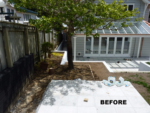Work in progress before planting & grass