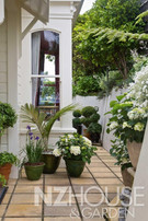 Creating an inviting entrance with pots