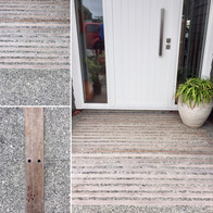 Hardwood & concrete detailing