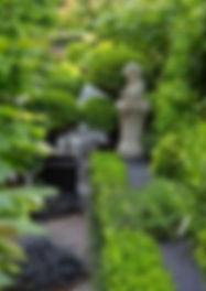Topiaries & classic statue