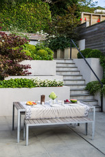 Outdoor table setting for lunch