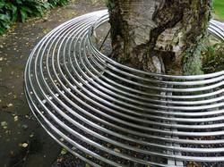 Custom stainless steel tree seat