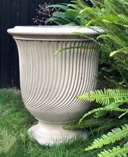 Light weight fluted urn