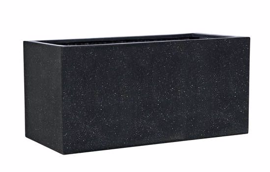 Black rectangle troughs