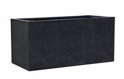 Black rectangle troughs