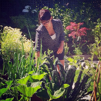 Owner Hadley, and founder of the Remedy project, in her garden