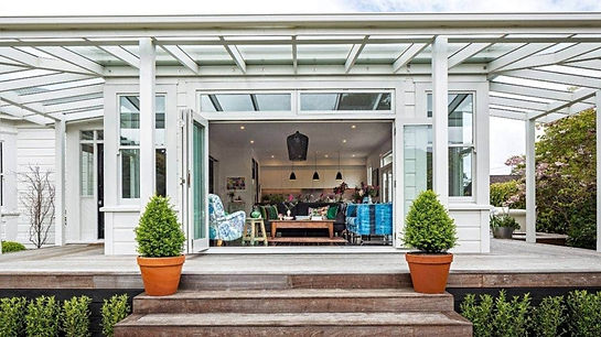 Wide verandah & garden design Wellington