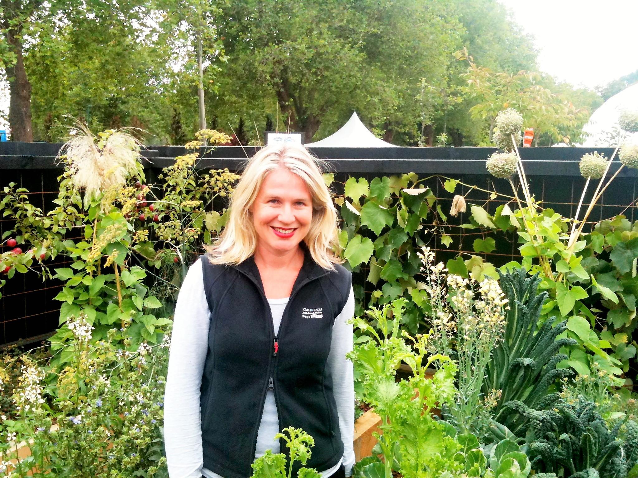 Proud garden designer Rach Matthews