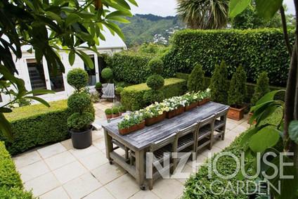 Sheltered, sunny outdoor living in back garden