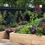 Sustainable organic award winning vegetable garden