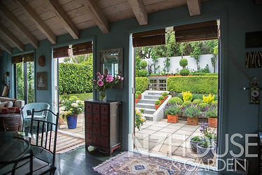 Great indoor outdoor flow between the family room & outside courtyard