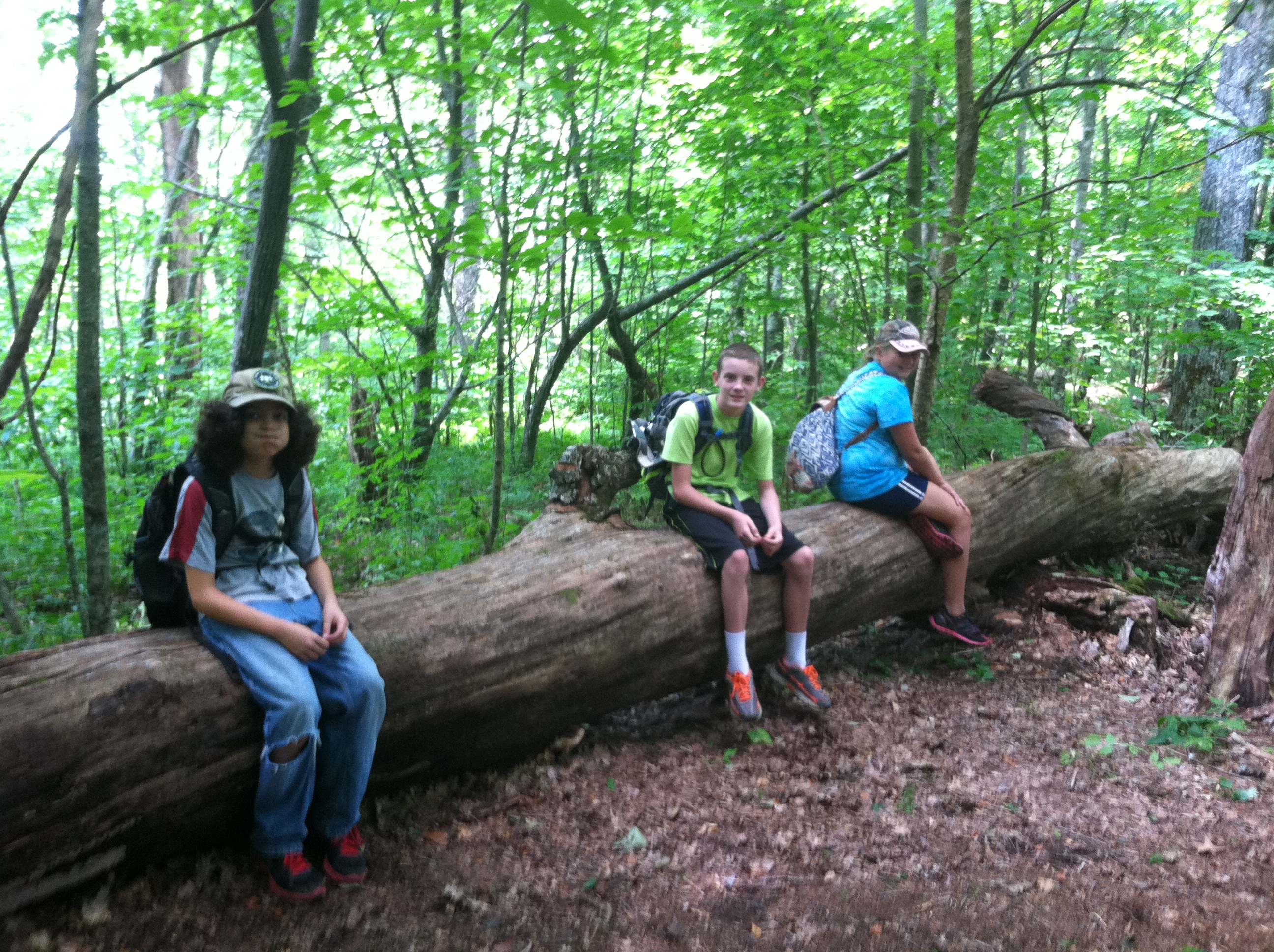 Campers take a break on the trail