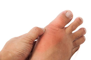 person with chronic foot pain