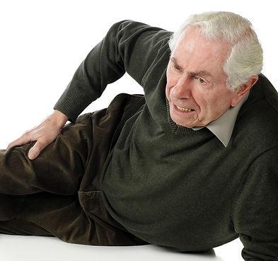 man with injured hip