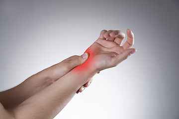 person with wrist pain