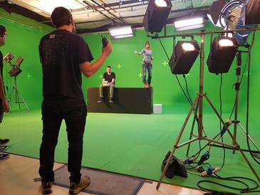 Studio di posa Green Screen