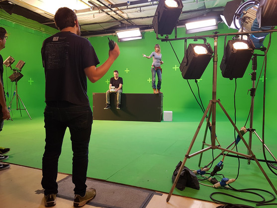 Studio di posa Green Screen