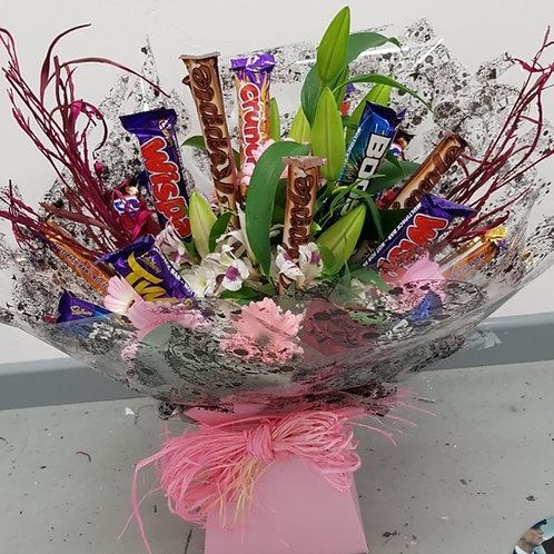 Mix of Flowers and Chocolates.