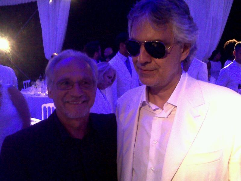 Con Andrea Bocelli