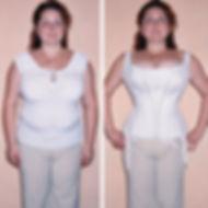 Крупная фигура до и после корсета