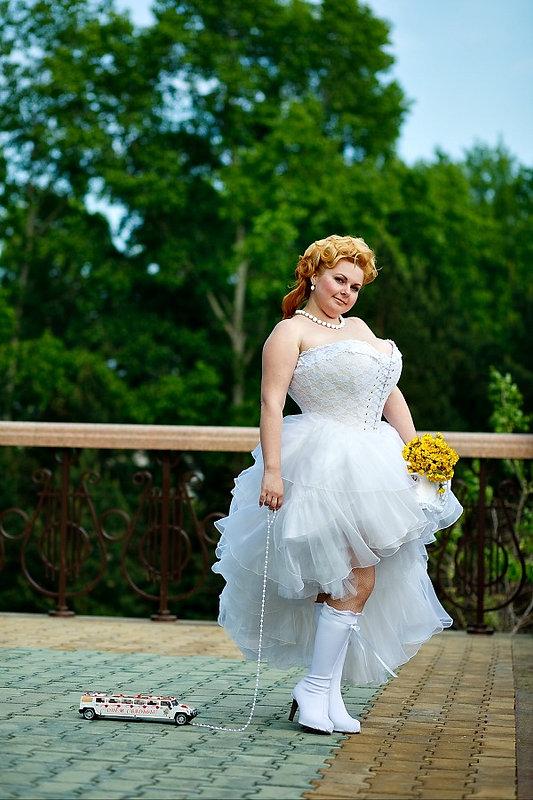 Невеста в свадебном корсете от КорсетМастера. Фотограф Урал Гареев