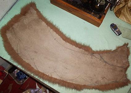 Раскрой воротника для зимнего пальто