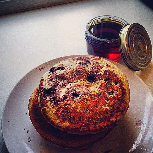 Instagram - The three B's Buttermilk, Blueberry and Buckwheat pancakes.jpg