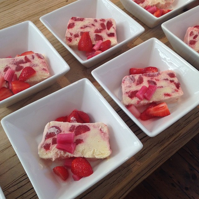 Instagram - Dessert going! Strawberry,rhubarb and elderflower champagne semi-fre