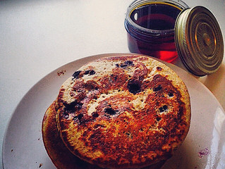 Sunday brunch: Buttermilk, blueberry and buckwheat pancakes