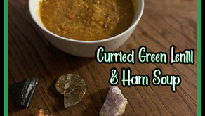 Curried Green Lentil & Ham Soup