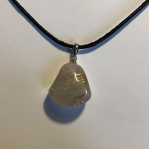 ritueel kwarts goud steen hanger  Eberhardt Asian spirit