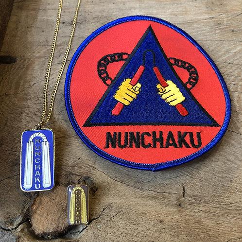 Set van drie Nunchaku vechtsport artikelen