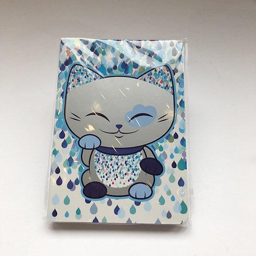 Leuke Aanbieding Mani Lucky cat  Notitie boekje  zilver blauw