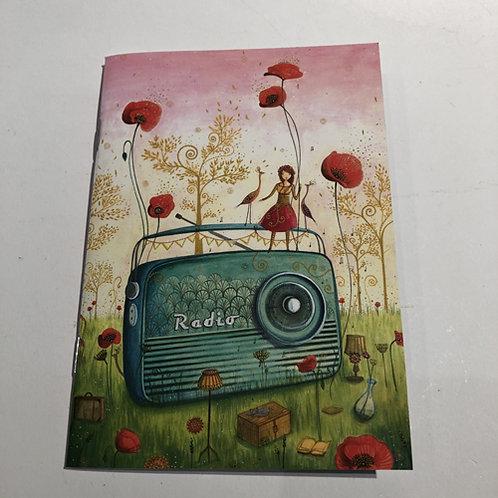 Mini schrift met 24 blz. gelinieerd . 10,5x15cm radio Frankrijk