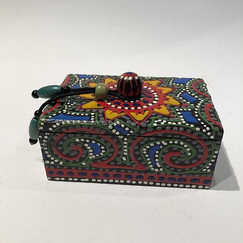 sieraden doos kist hout hand beschilderd thailand