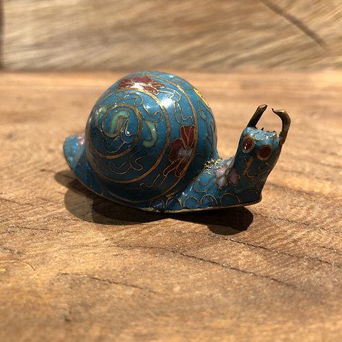 Cloisonné  slakje.6x3 cm