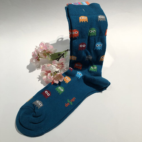 Leuke coole sokken gemaakt in Korea. Met Pac Man garnalen sushi papegaai olifant banaan