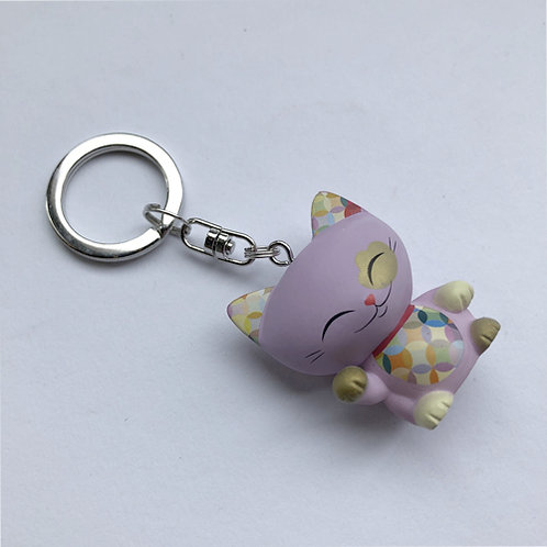 3D Mani the Lucky Cat sleutelhanger roze