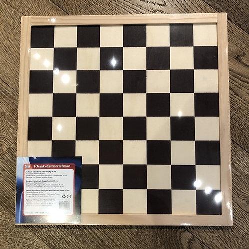 Houten schaak/dambord maat 40x40cm schaken