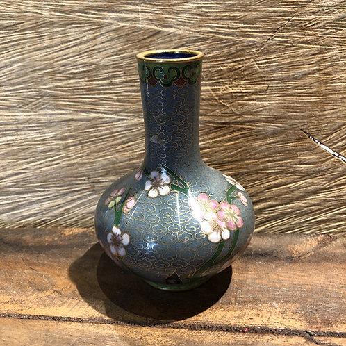 Cloisonné  vaasje. 11 cm